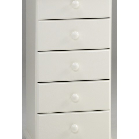 Richmond White 5 Drawer Narrow Chest