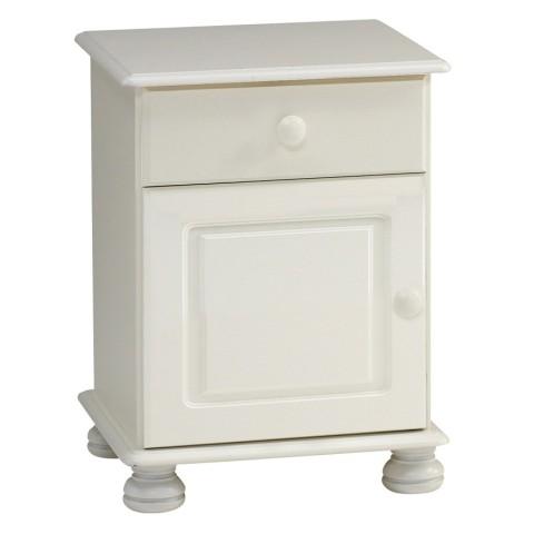 Richmond White 1 Drawer 1 Door Bedside
