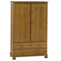 Richmond Antique Pine Short Combi Wardrobe