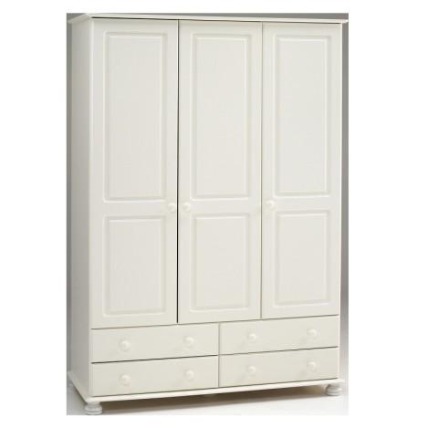 Richmond White 3 Door Large Wardrobe
