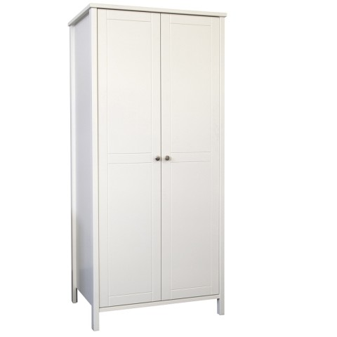 Stockholme 2 Door Wardrobe- White