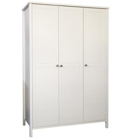 Stockholme 3 Door Wardrobe- White