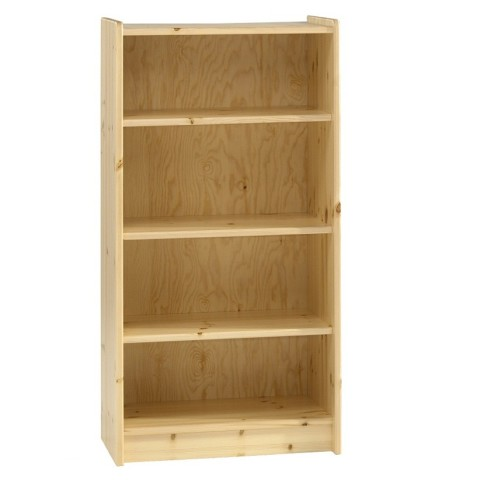 high bookcase in pine