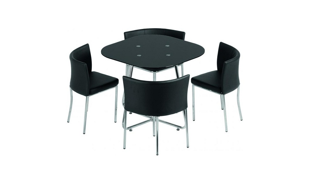 space saving dining tables furniturekraze ltd space saver black glass dining set