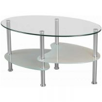 Cara Frosted Glass Coffee Table