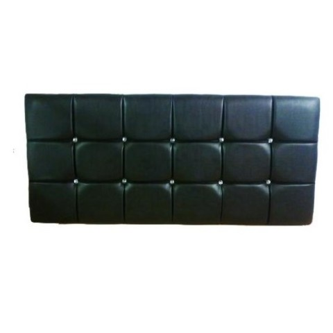 Diamonte Detail Faux Leather Headboard- Customised Height