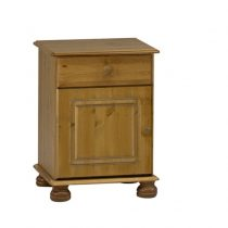 Richmond Antique Pine 1 Drawer 1 Door Bedside