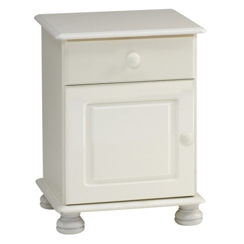 Richmond White 1 Drawer 1 Door Bedside