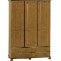 Richmond Antique Pine 3 Door Large Wardrobe
