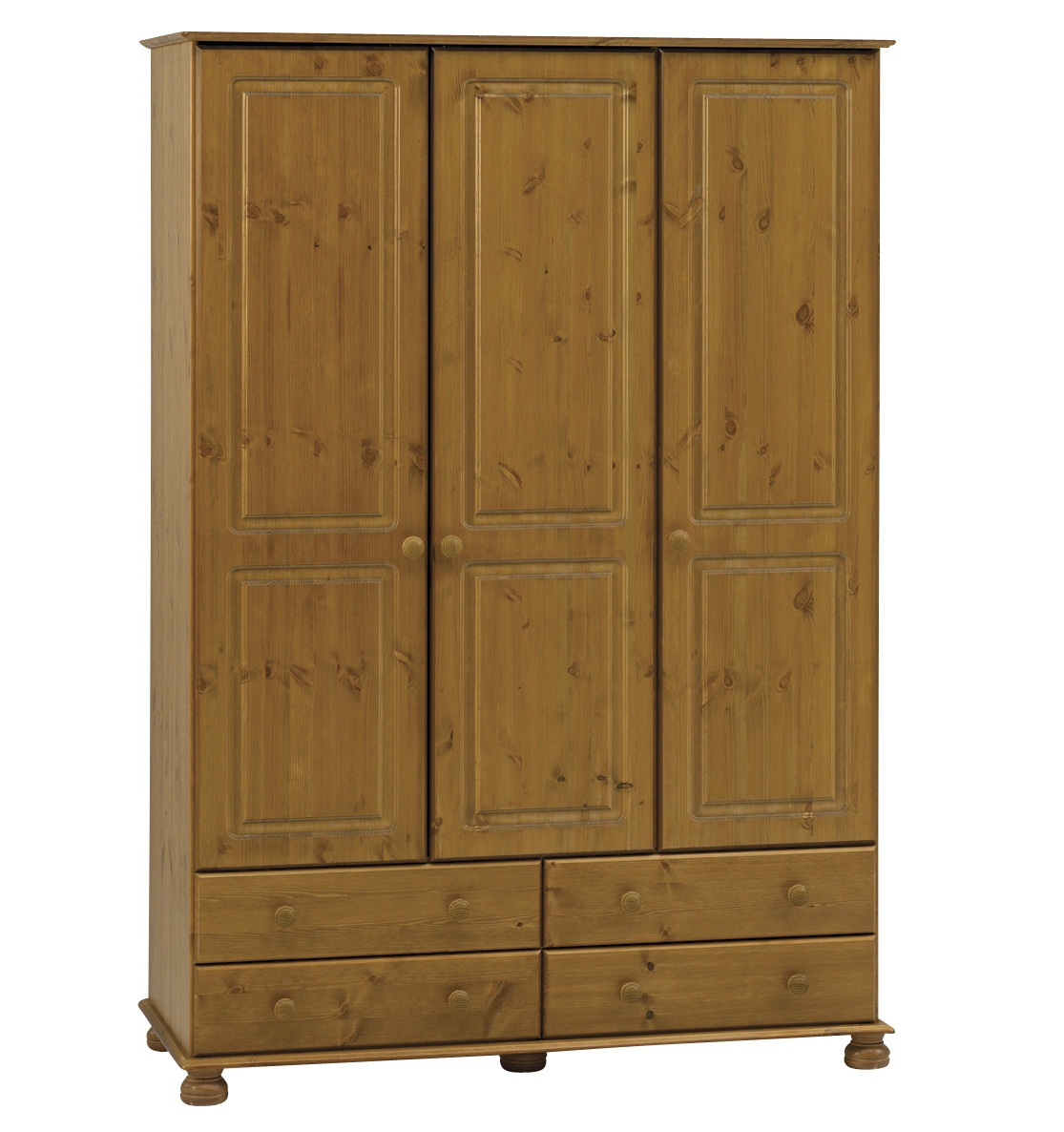 Furniturekraze ltd richmond antique pine 3 door large for Door furniture uk