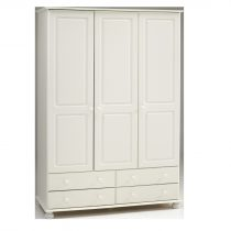 Richmond White 3 Door Large Wardrobe