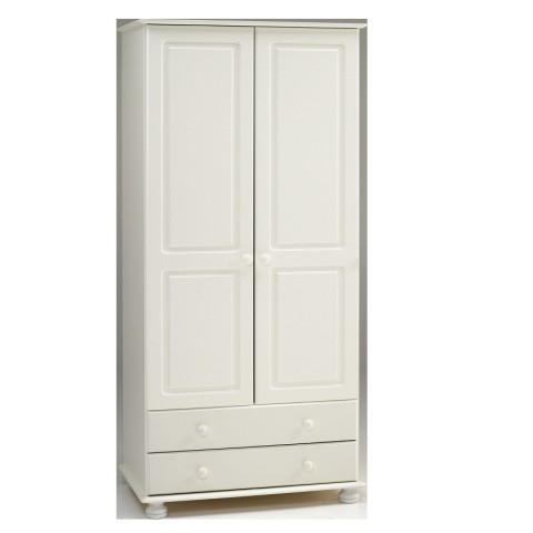 Richmond White 2 Door 2 Drawer Wardrobe