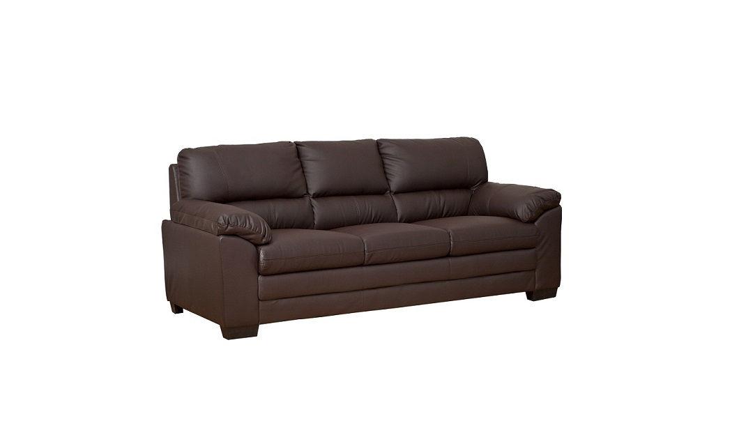 Furniturekraze ltd denver leather sofa in brown black for Leather sectional sofa denver