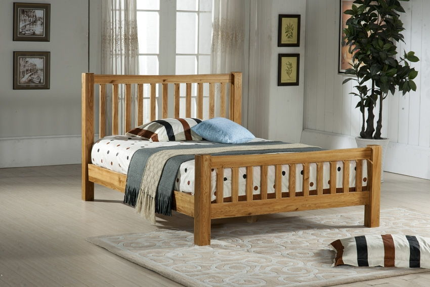 Furniturekraze Ltd Denver Solid American Oak Bed