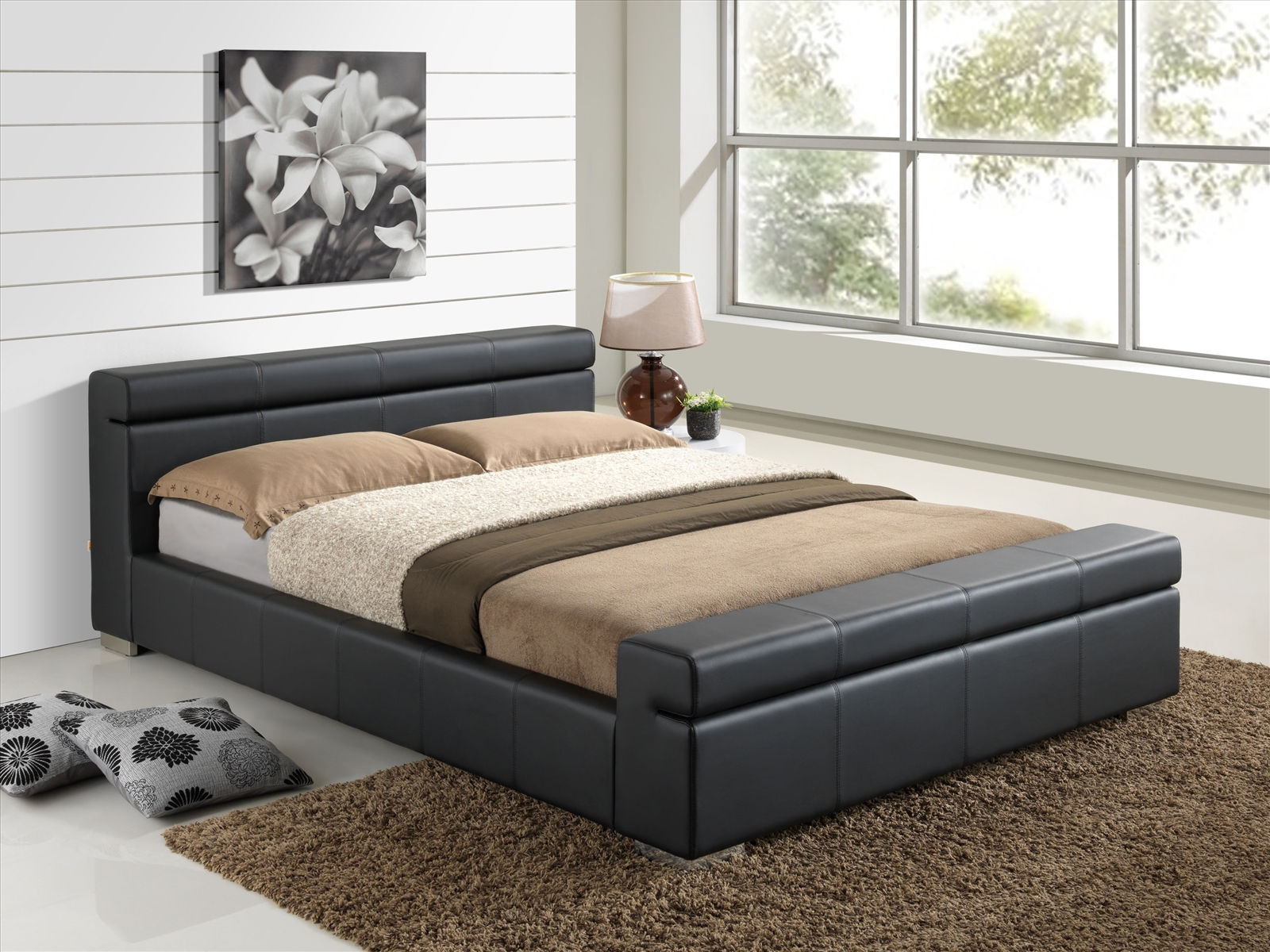 cheap beds and furniture furniturekraze ltd durham faux leather bed black 14748