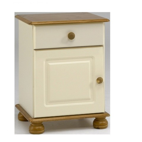 cream and pine bedside