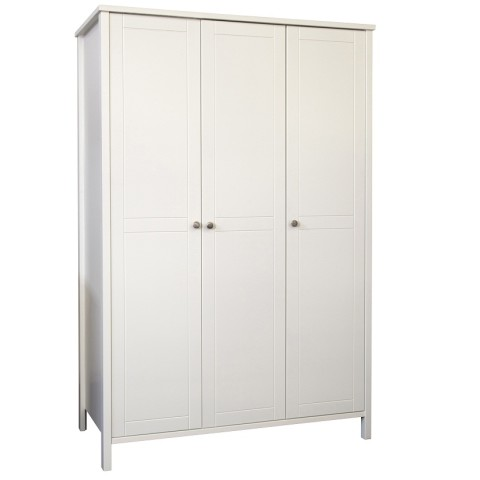 Stockholme 3 Door Wardrobe- White