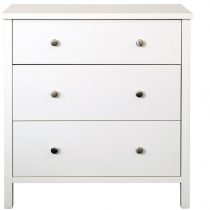 Stockholme 3 Drawer Wide Chest- White