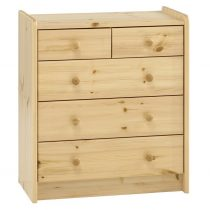 3 + 2 Chest Drawers in Scandinavian Pine