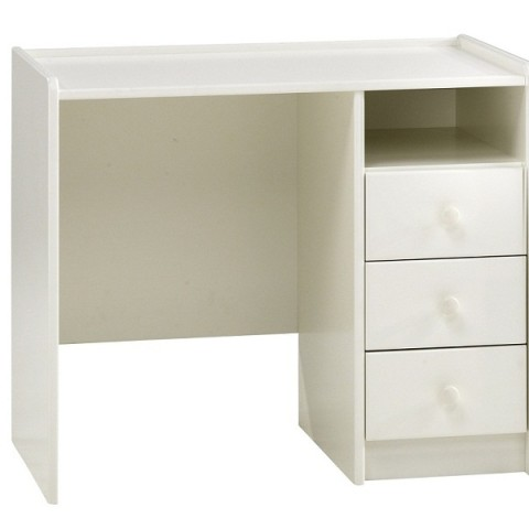 White Pedestal Desk