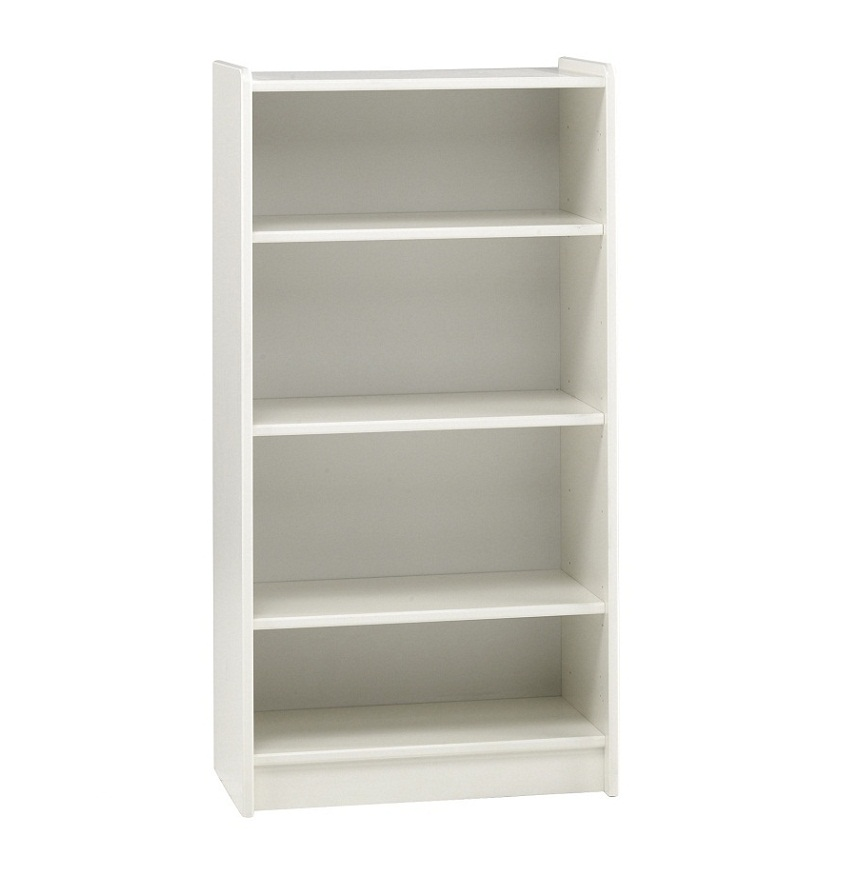 tall white bookcase