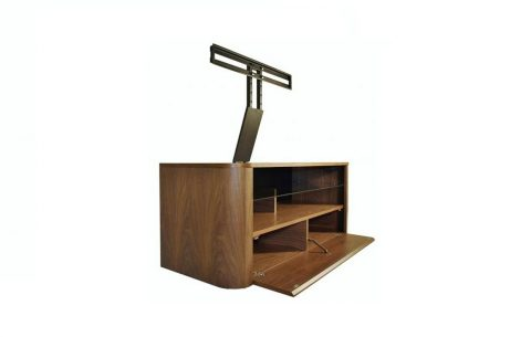 hugo walnut tv stand