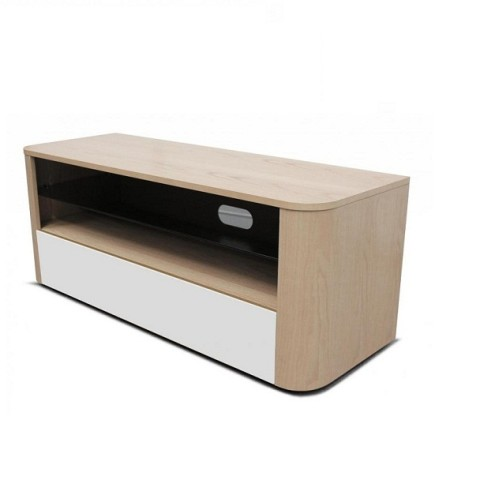 Hugo Light Oak & White TV Stand by Alphason