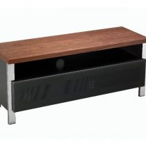 Regent 1200 Real Wood & Grey Glass Doors TV Stand
