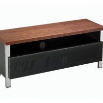 Regent 1200 Real Wood & Grey Glass Doors TV Stand