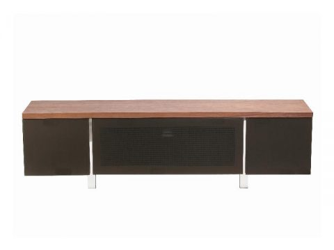 Regent 1800 Walnut and Grey Glass TV Stand