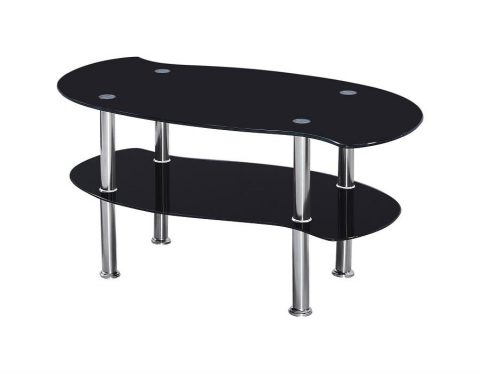 Colby Black Glass Coffee Table