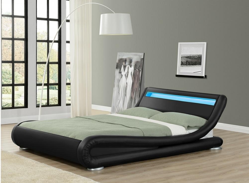 Furniturekraze Ltd Leo Designer Curved Led Bed