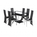 Hanley Glass Dining Table & 6 Chairs